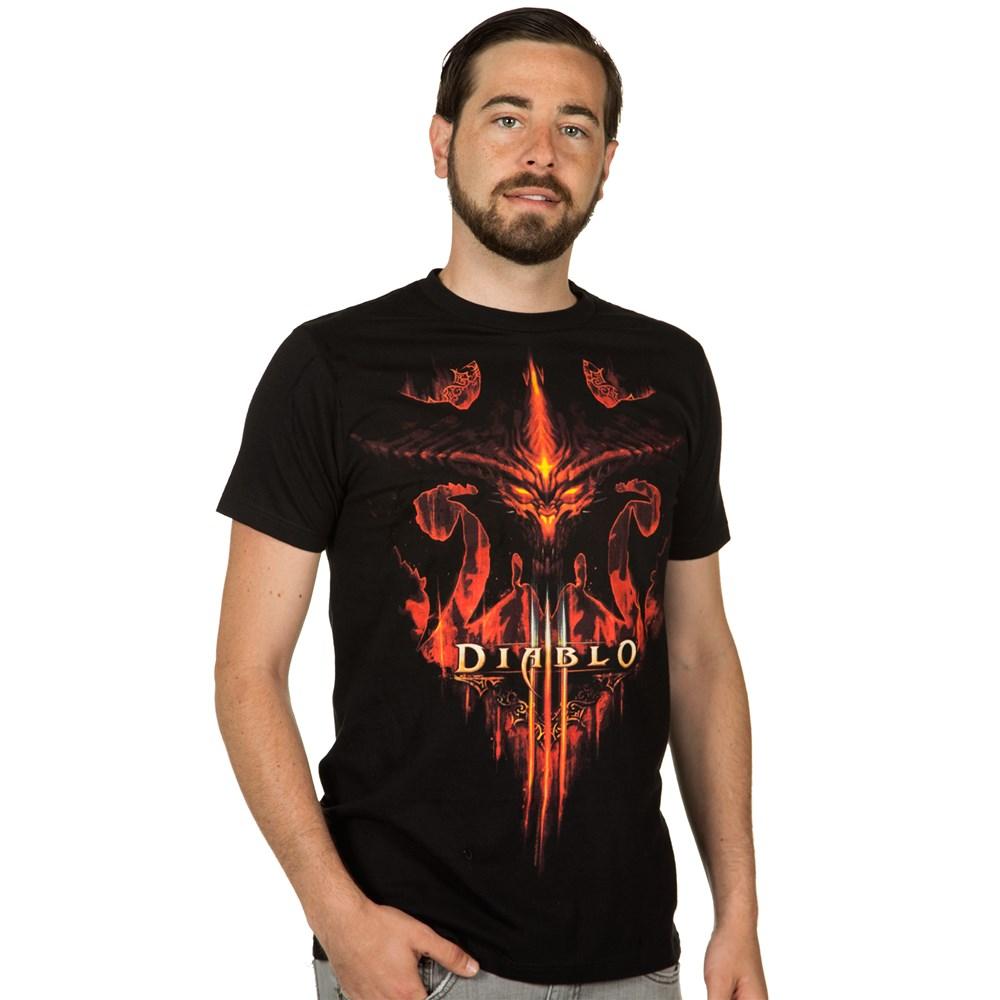 Tričko Diablo 3 - Burning, Black, S