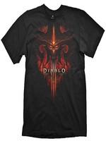 Tričko Diablo 3 - Burning, Black, XL (PC)