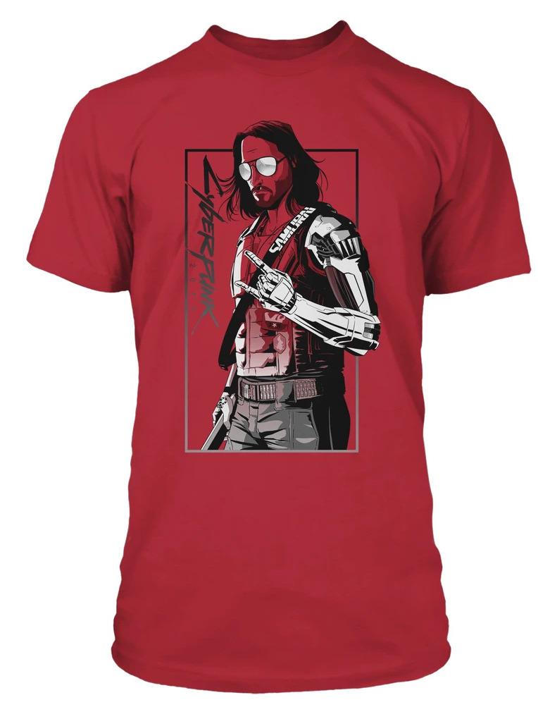 Tričko Cyberpunk 2077 - Johnny (velikost L)