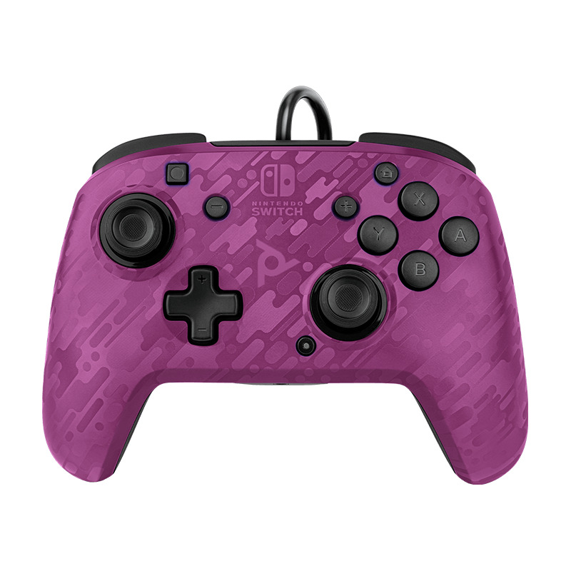 Ovladač drátový PDP Faceoff Deluxe+ Audio - Purple Camo (PC)