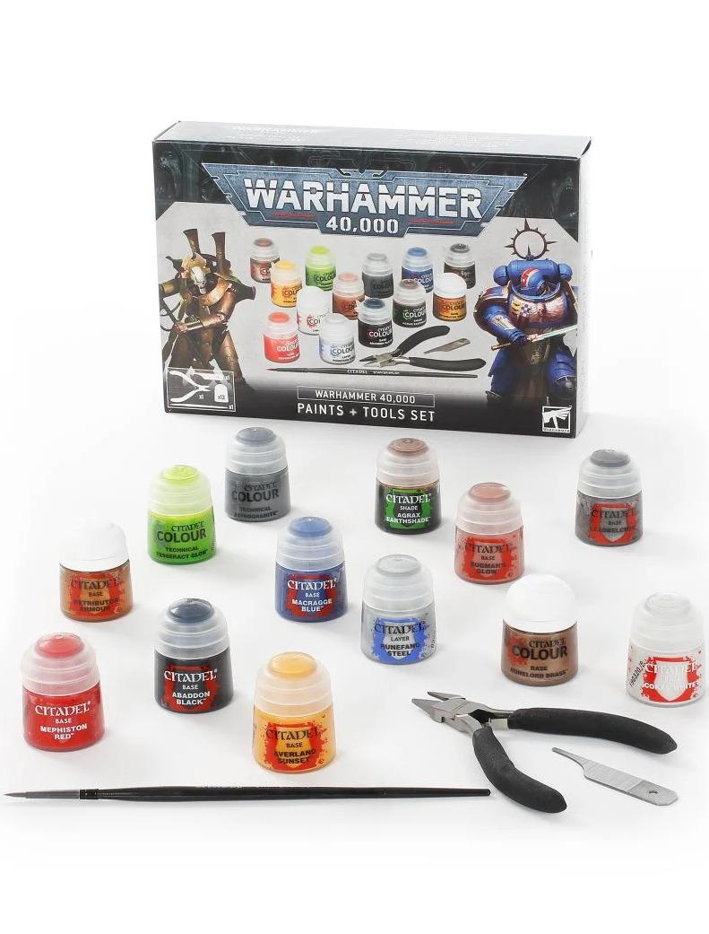 Warhammer 40,000: Paints + Tools Set