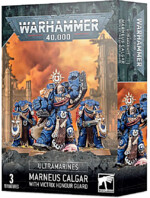 W40k: Ultramarines - Marneus Calgar with Victrix Honour Guard (3 figurky)