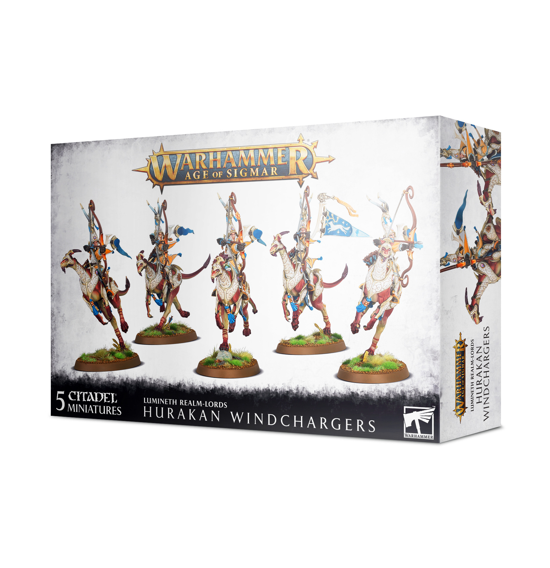 W-AOS: Lumineth Realm Lords Hurakan Windchargers (5 figurek)