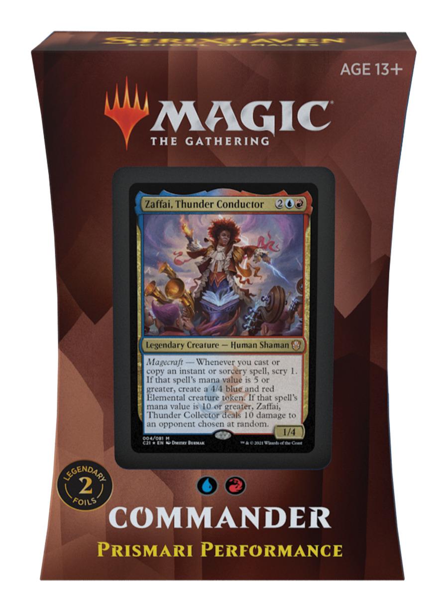 Karetní hra Magic: The Gathering Strixhaven - Prismari Performance (Commander Deck)