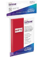 Ochranné obaly na karty Ultimate Guard - Supreme UX Sleeves Standard Matte Red (50 ks)