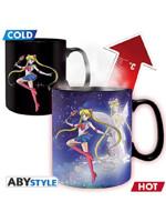 Hrnek Sailor Moon - Sailor & Chibi (měnící se)