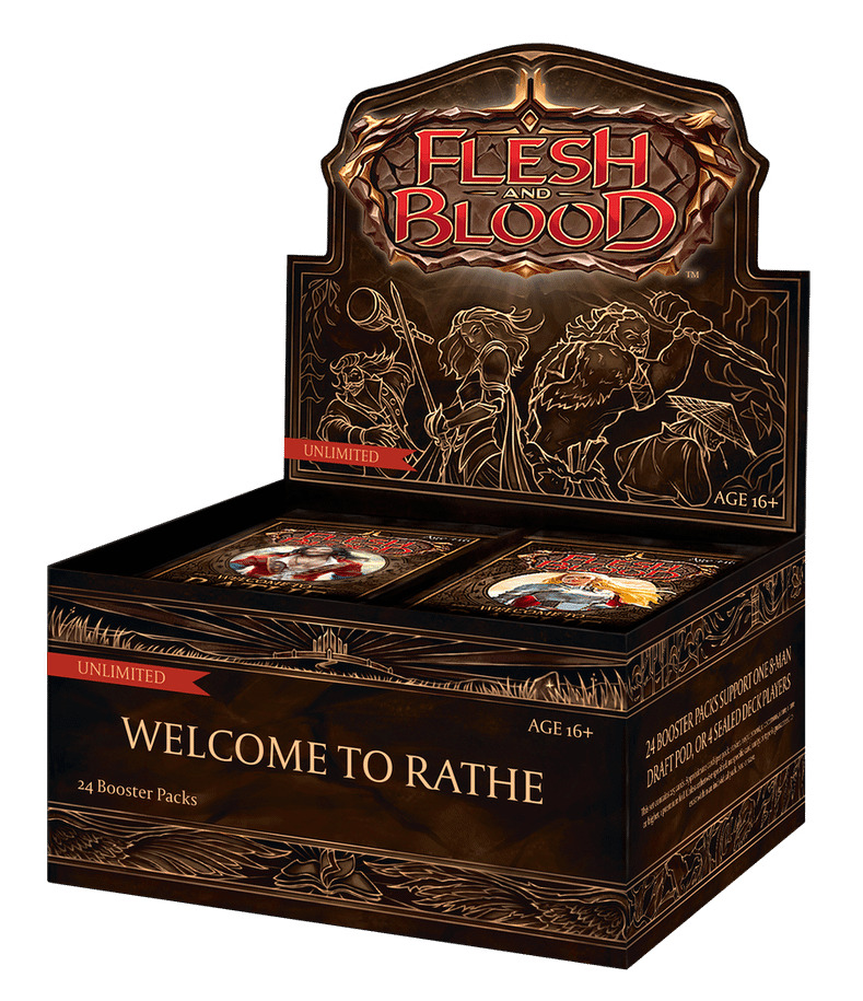 Karetní hra Flesh & Blood TCG: Welcome to Rathe - Unlimited Booster Box (24 boosterů)