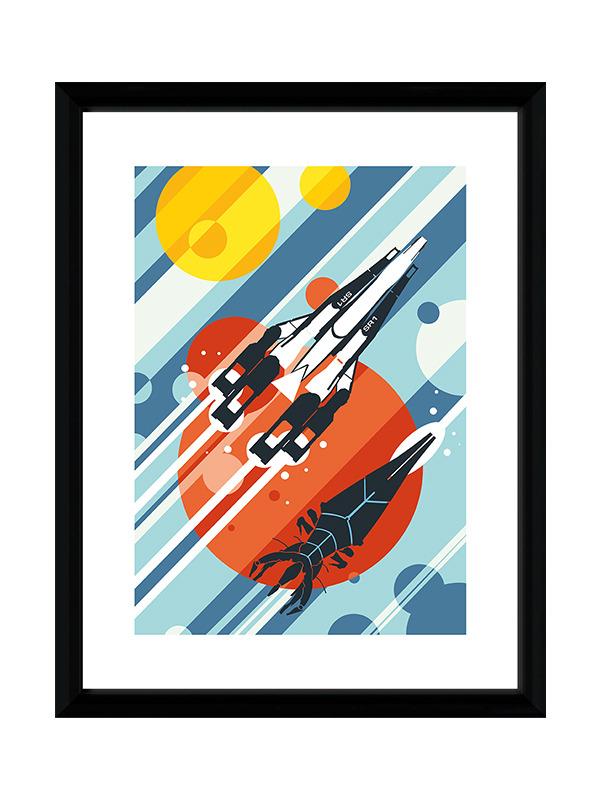 Zarámovaný plakát Xzone Originals - Battle of Normandy
