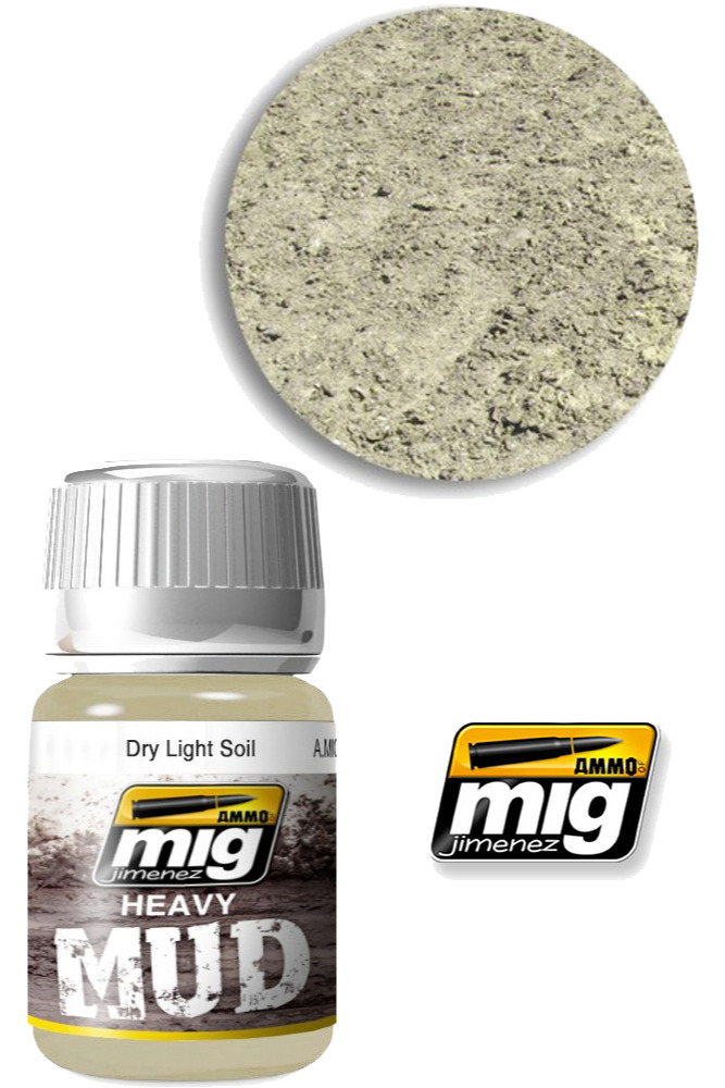Texturová barva Mig Jimenez Ammo Heavy Mud - Dry Light Soil (1700)