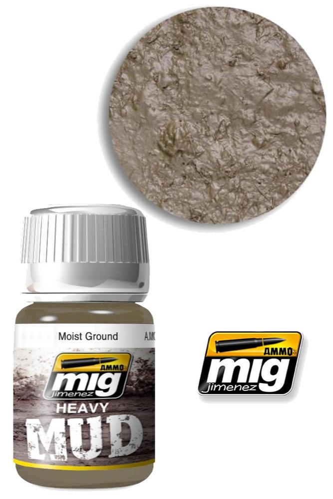 Texturová barva Mig Jimenez Ammo Heavy Mud - Moist Ground (1703)