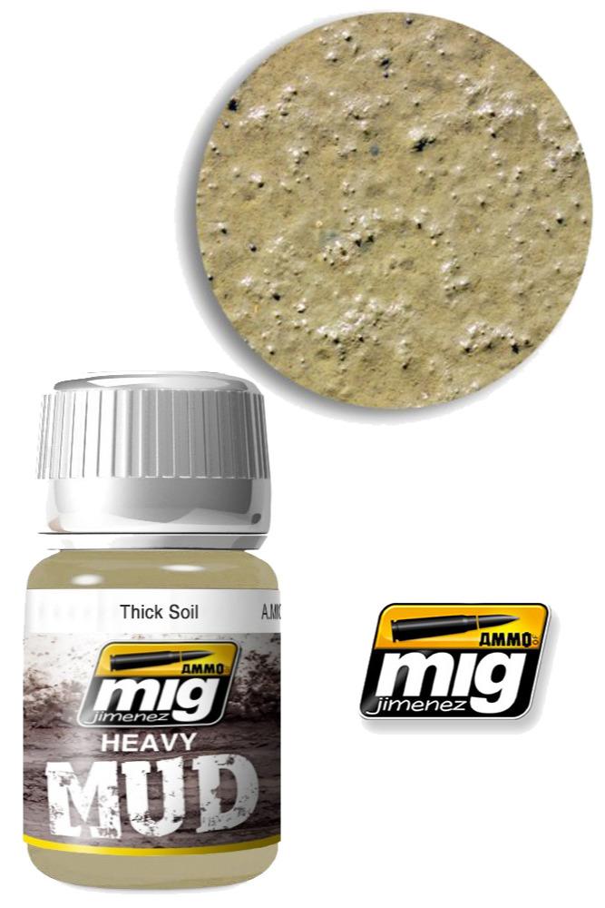 Texturová barva Mig Jimenez Ammo Heavy Mud - Thick Soil (1701)