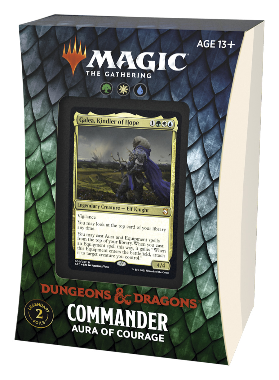 Karetní hra Magic: The Gathering Dungeons and Dragons: Adventures in the Forgotten Realms - Aura of Courage (Commander Deck)