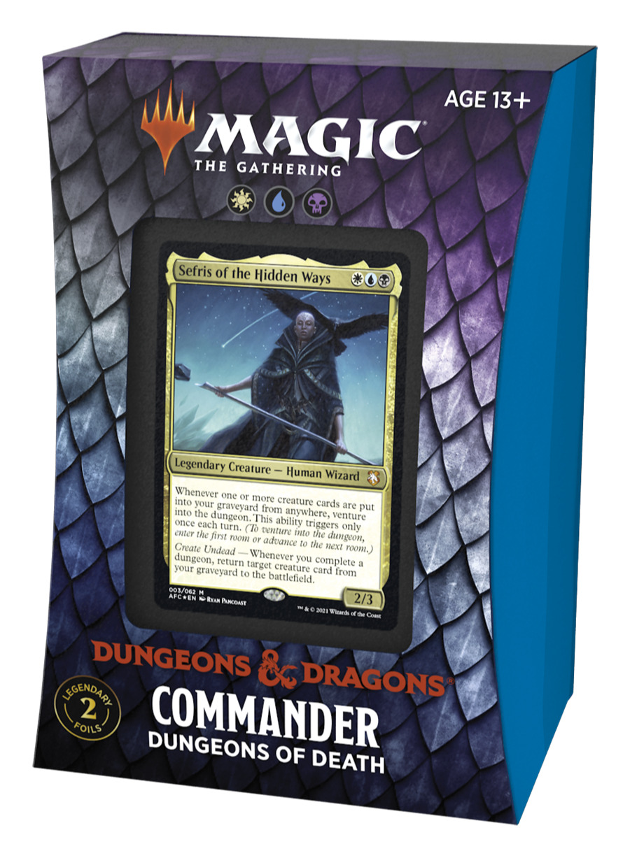 Karetní hra Magic: The Gathering Dungeons and Dragons: Adventures in the Forgotten Realms - Dungeons of Death (Commander Deck)
