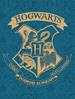 Deka Harry Potter - Bradavice (modrá)