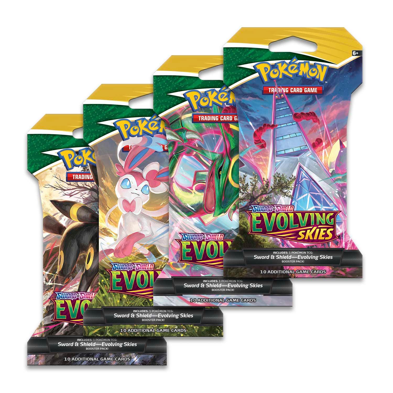 Karetní hra Pokémon TCG: Sword & Shield Evolving Skies - Sleeved Booster (10 karet)