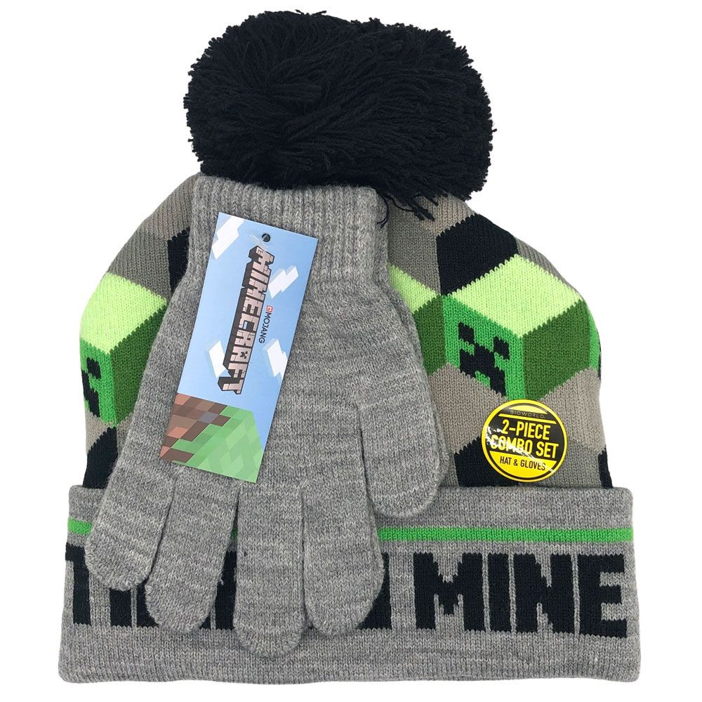 Čepice s rukavicemi Minecraft - Time to Mine