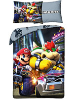 Povlečení Super Mario - Mario Kart with Bowser