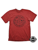 Tričko Doom - Pentagram Black on Red (velikost M)