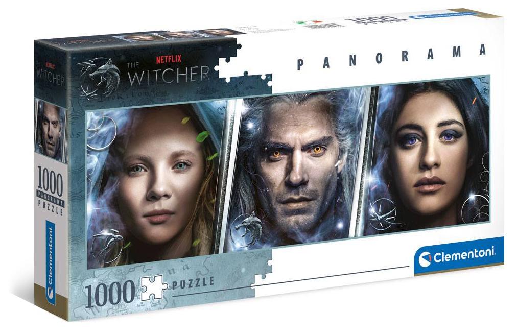 Puzzle Zaklínač - Panorama Faces (Netflix)s 1000 dílků -