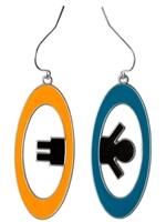 Náušnice Portal 2 - oranžová a modrá (PC)