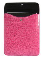 Pouzdro pro iPad (růžová imitace krokodýlí kůže)