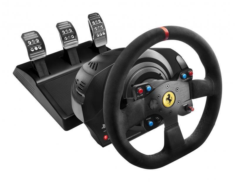 Sada volantu a pedálů Thrustmaster T300 Ferrari 599XX EVO Alcantara (PS5, PS4, PS3, PC) (PC)