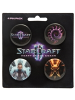 Odznaky Starcraft II Heart of the Swarm Pin Pack