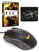 Balíček DOOM + STRIX Claw myš + podložka
