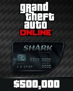 Grand Theft Auto V Online Bull Shark Cash Card 500,000$ GTA 5 (DIGITAL)