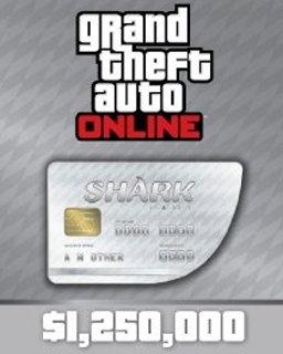 Grand Theft Auto V Online Great White Shark Cash Card 1,250,000$ GTA 5 (DIGITAL)