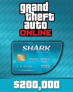Grand Theft Auto V Online Tiger Shark Cash Card 200,000$ GTA 5 (DIGITAL)