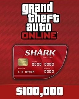 Grand Theft Auto V Online Red Shark Cash Card 100,000$ GTA 5 (PC DIGITAL) (PC)