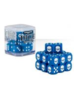 kostky Warhammer Dice Cube (20 ks), šestistěnné - modré