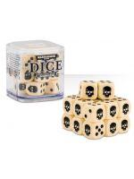 kostky Warhammer Dice Cube (20 ks), šestistěnné - krémové (PC)