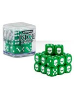 kostky Warhammer Dice Cube (20 ks), šestistěnné - zelené (PC)