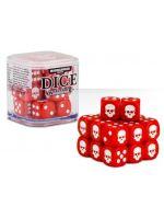 kostky Warhammer Dice Cube (20 ks), šestistěnné - červené