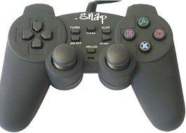 Analogový ovladač Snap - černý (PS2)