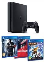 Konzole PlayStation 4 Slim 1TB + Uncharted 4, Driveclub, Ratchet Clank (PS4)
