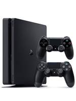 Konzole PlayStation 4 Slim 1TB + 2x ovladač (PS4)