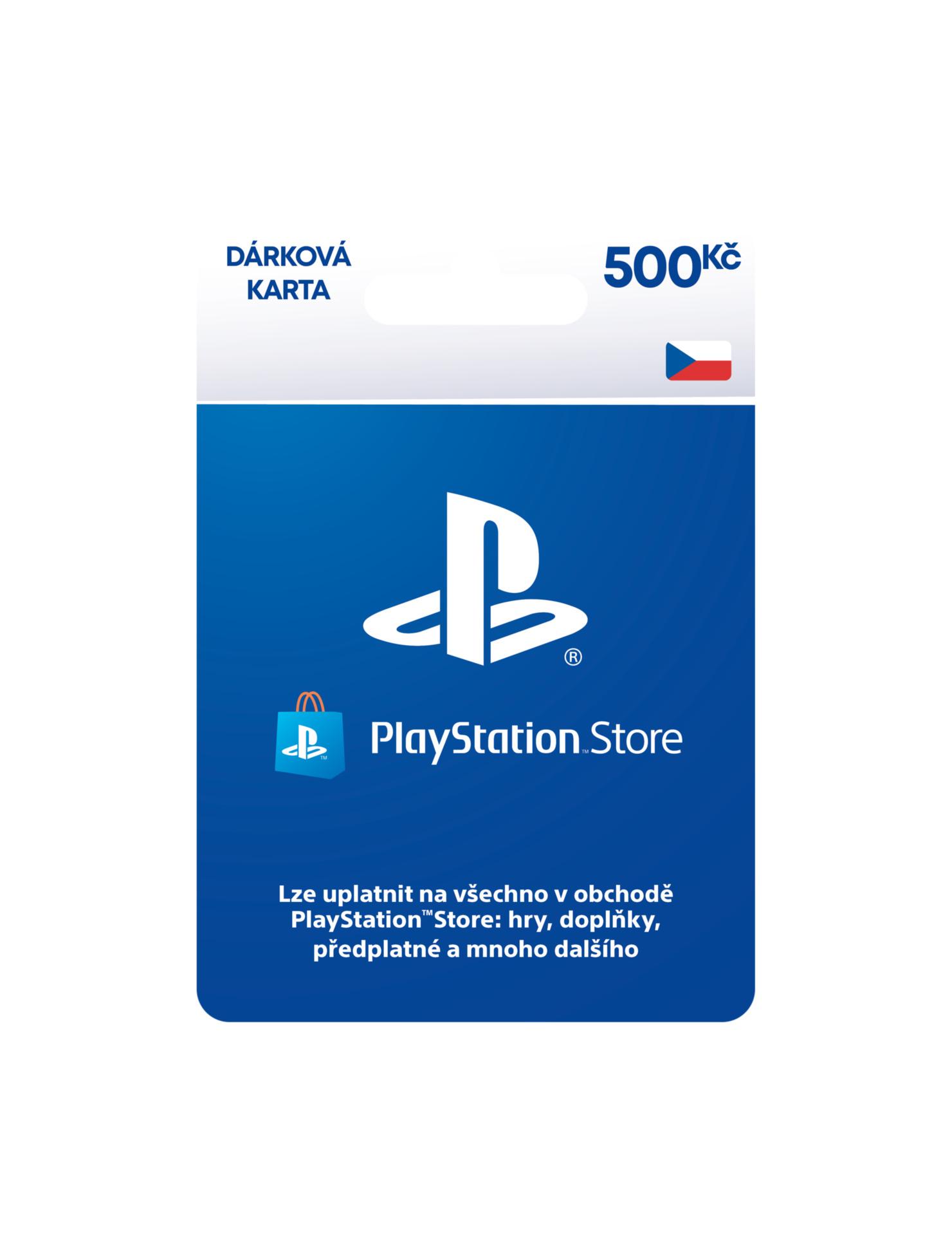 PlayStation Store - Naplnění peněženky 500 Kč (PS4)
