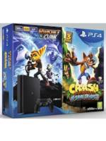 Konzole PlayStation 4 Slim 500GB + 2 hry Crash Bandicoot a Ratchet & Clank