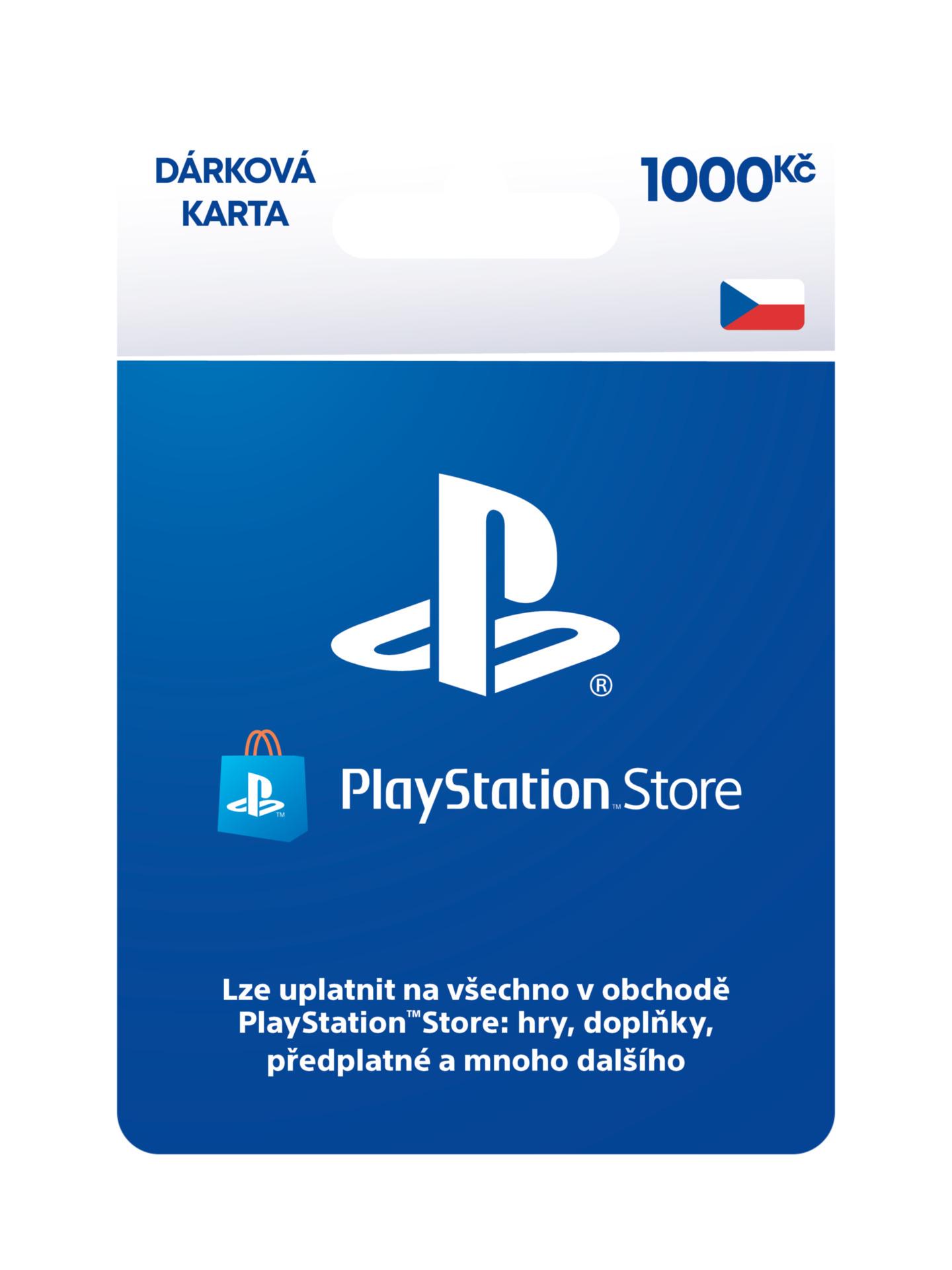 PlayStation Store – Dárková karta 1000 Kč (PS4)