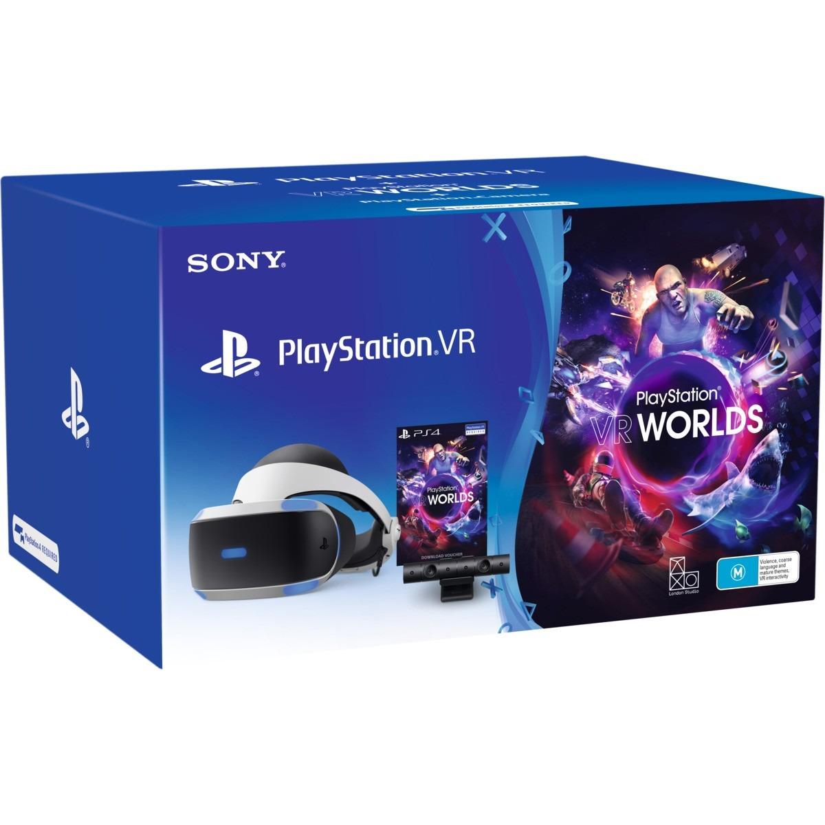 PlayStation VR + kamera + VR Worlds (PS4)