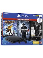 Konzole PlayStation 4 Slim 1TB + Uncharted 4, The Last of Us, Ratchet & Clank
