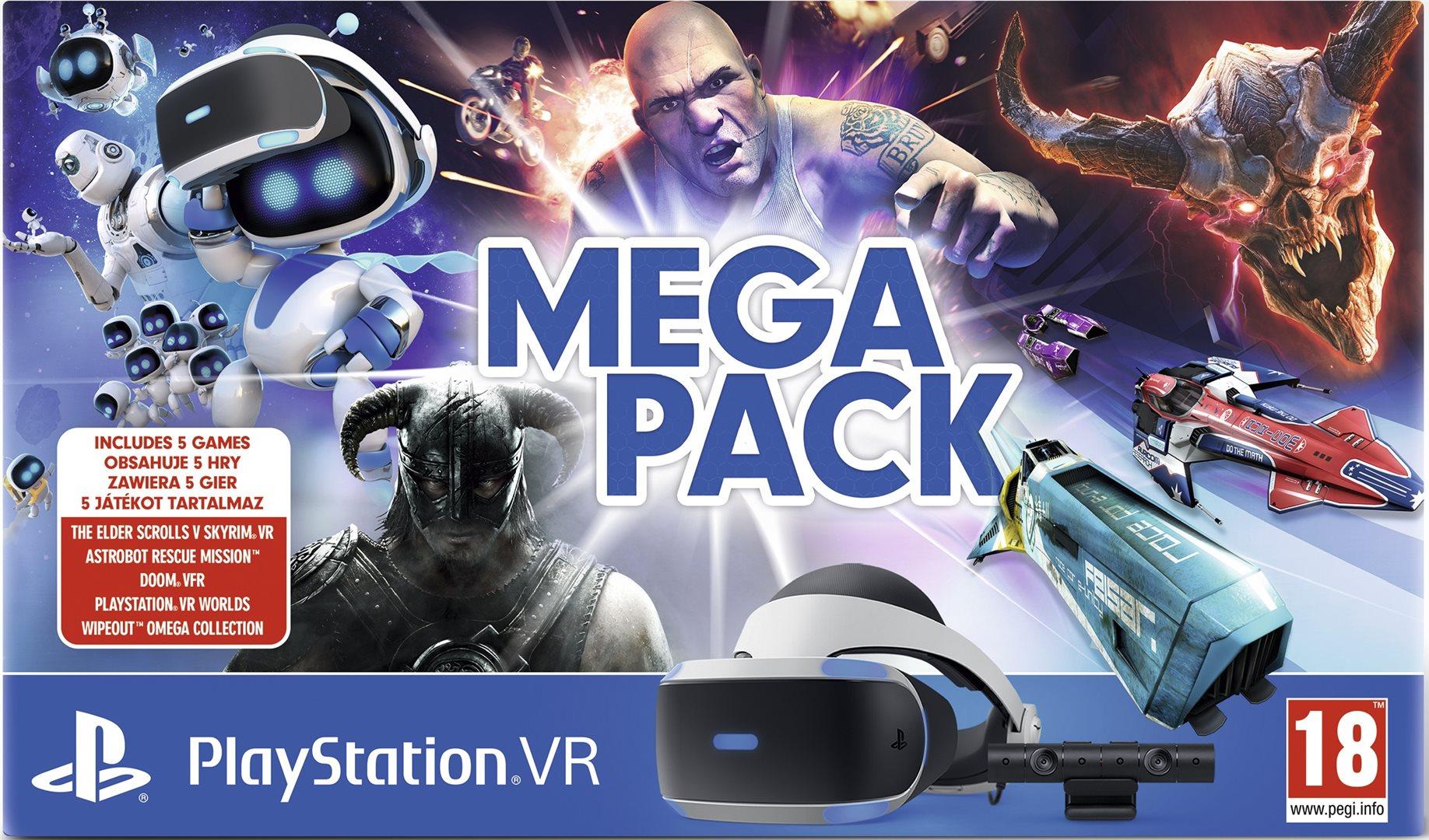 PlayStation VR v2 + kamera + 5 her - Mega Pack (PS4)