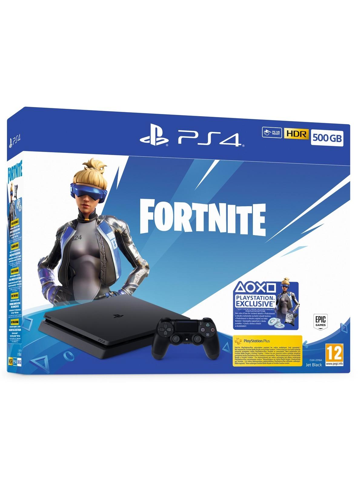 Konzole PlayStation 4 Slim 500 GB + balíček Fortnite 2000 V Bucks (PS4)
