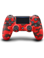 DualShock 4 ovladač - Red Camouflage V2