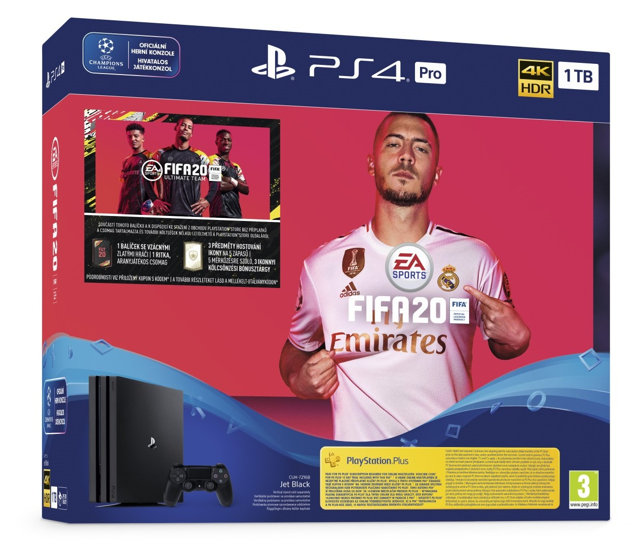 Konzole PlayStation 4 Pro 1TB + FIFA 20 (PS4)