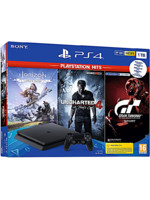 Konzole PlayStation 4 Slim 1TB + Uncharted 4, Horizon: Zero Dawn CE, Gran Turismo Sport (PS4)