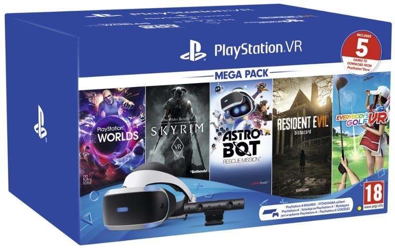 PlayStation VR v2 + kamera + 5 her - Mega Pack 2 (PS4)